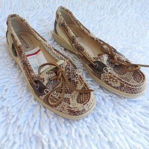 Snakeskin SPERRY TOP SIDERS boat shoes loafer 5